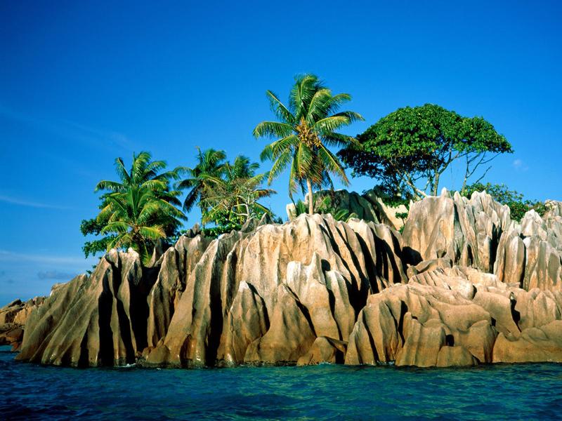 Seychelles-coral island